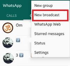 ارسال پیام برای جمعی از مخاظبین واتساپ با New Broadcast